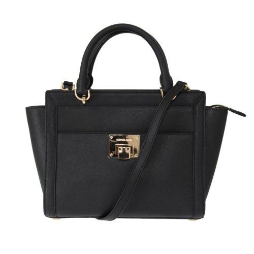 469f3e8bd814 Michael Kors Handbags Black TINA Leather Satchel Bag on OnBuy