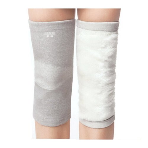 Thicken Knee Brace Sleeve for Sports/Yoga/Dance/Arthritis/Joint Pain Gray (M)
