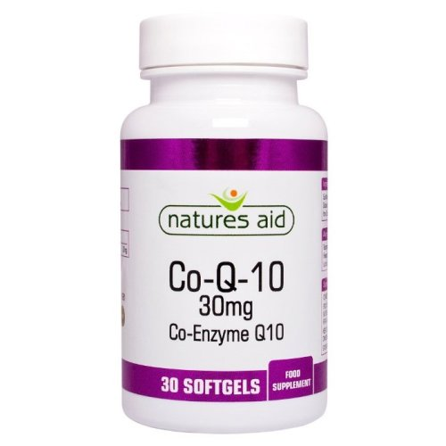 Natures Aid CO-Q-10 30mg (Co-Enzyme Q10) , 30 Capsules