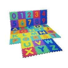 Alphabet Numbers EVA Floor Mat Baby Room Jigsaw Play Mat Soft Foam Large Tiles