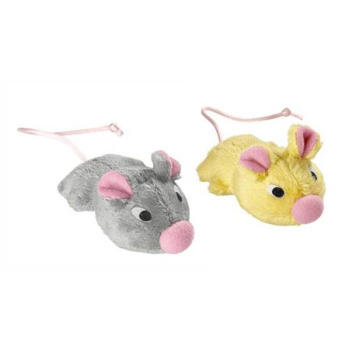 Hunter Cat Toy Set Plush Mice With Catnip & Bell 3cm (Pack of 6)