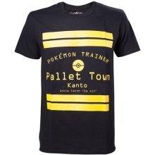 Pokemon Pallet Town Kanto Mens T-Shirt Small Black Model. TS408064POK-S