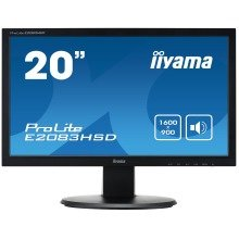"Iiyama Prolite E2083hsd-b1 19.5"" Hd Tn+film Black Computer Monitor Led Display"