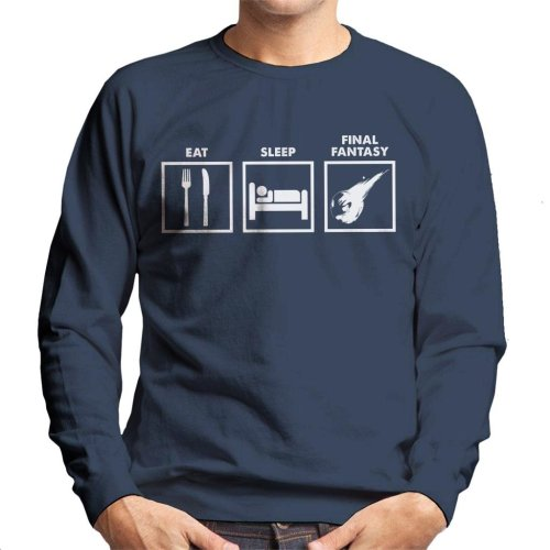 Eat Sleep Final Fantasy Men's Sweatshirt