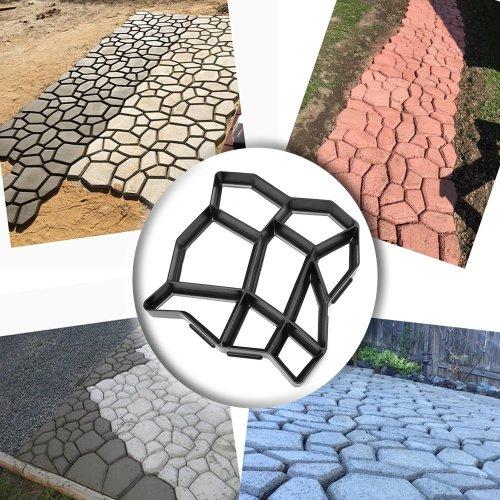 Garden Concrete Molds Paving Brick For Paving Cement Brick Molds Stone Road Concrete Molds Tool Diy Plastic Path Maker Mold Home & Garden
