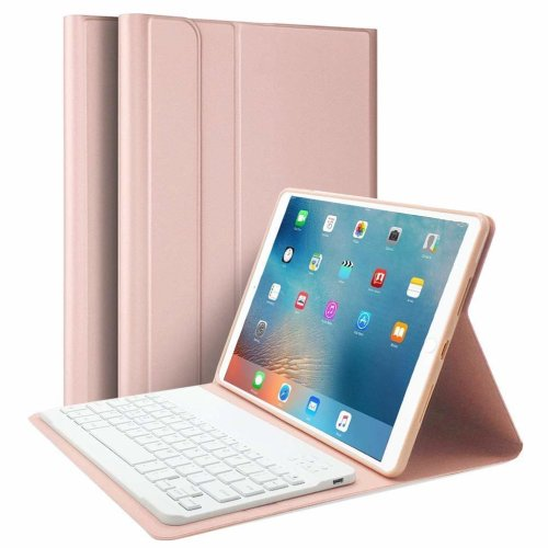 ipad Case 9.7 inch 2018 with Bluetooth Keyboard, Lachesis iPad Air 1/2 Case with Keyboard 2017, Slim Shell Cover with Magnetically Detachable...