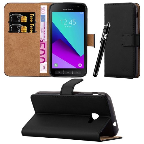 For Galaxy Xcover 4 Leather Wallet Flip Case Cover