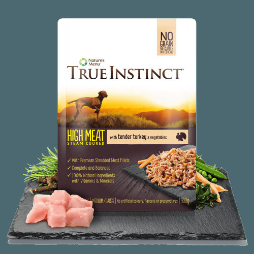 True Instinct Tender Turkey Fillets for Medium/Large Breed Adult Dogs, 8 x 300g