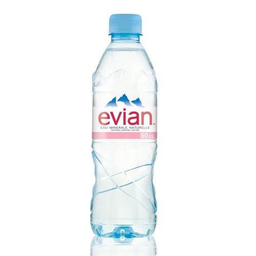 Evian Bottled Water 24 X 500ml (plastic Bottle)