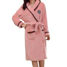 Casual Pajama Set Warm Sleepwear Women/Lovers Flannel Nightgown X-large-A2