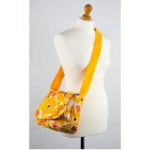 Okiedog Flower Power Genie Baby Changing Bag - Orange/yellow -  okiedog flower power genie baby changing bag orangeyellow nappy child essential