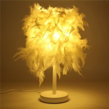 Metal Vintage Feather Night Light