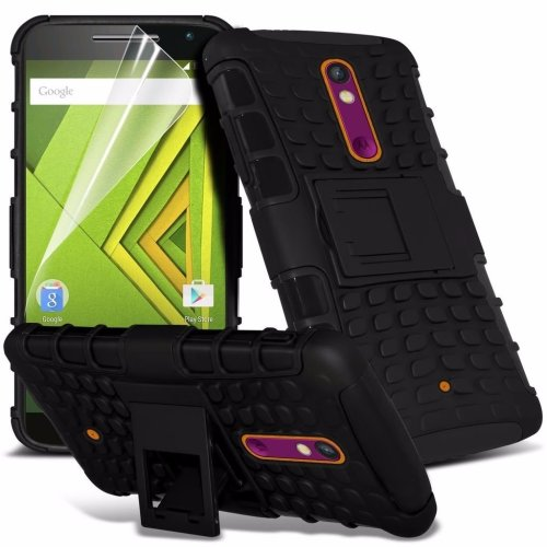 Itronixs - Lg G3 Rugged Heavy Duty Armour Shock Proof Hard Stand Case Cover with Lcd Screen Protector
