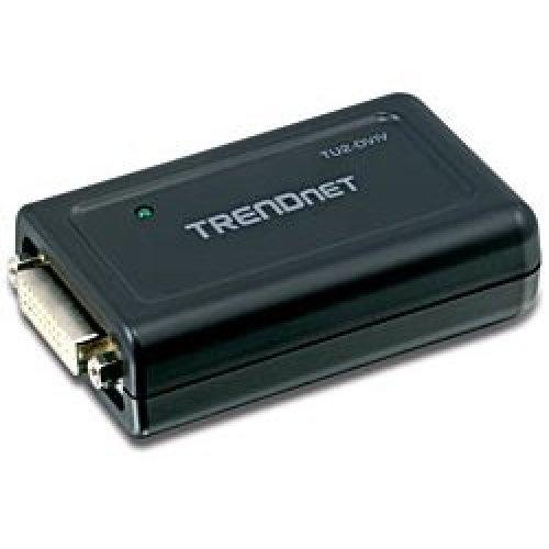 Trendnet USB to DVI/VGA Adapter USB 2.0 1x DVI-I, 1x VGA Black cable interface/gender adapter