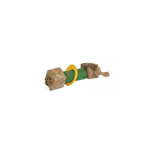 Boredom Breakers Woven Roller Bamboo Dumbell 3.5x3.5x16cm (Pack of 6)