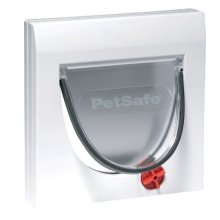 White 4 Way Locking Cat Flap - Petsafe Manual 4 Way Locking Classic Cat Flap White With Out Tunnel Pet Care