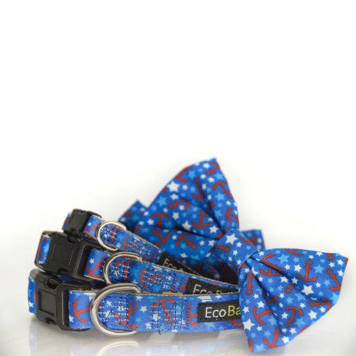 EcoBark EcoFriendly Buckle Dog Collar With Bow Tie