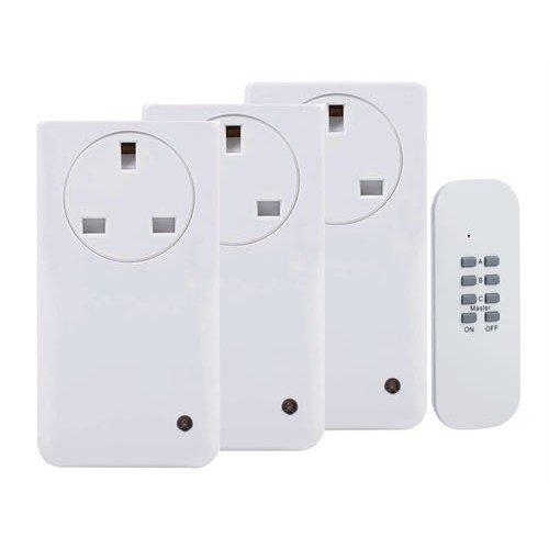 Byron BYRSF500S3 Smarthome Remote Control Socket Kit 3 Piece
