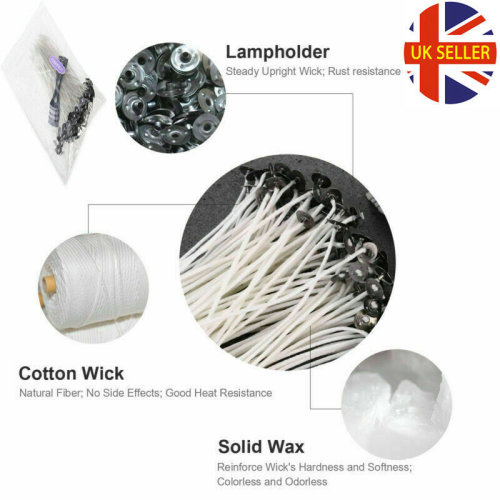 Pre Waxed Candle Wicks 100Pcs 15cm Long for Candle Making