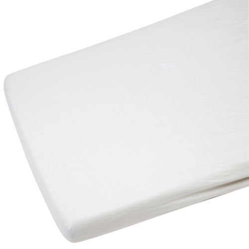 2x Jersey Fitted Sheet 100% Cotton Cot 60x120cm White