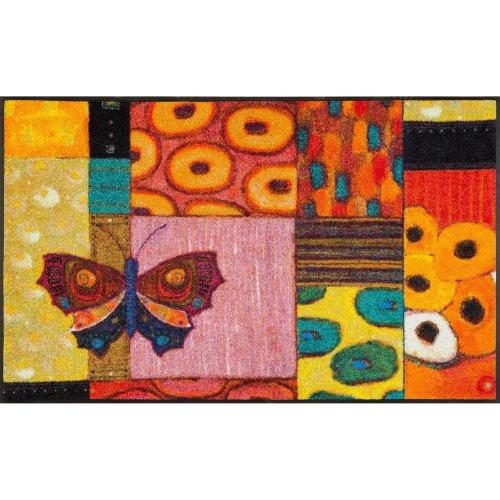wash+dry Door Mat, Polyester, Multicoloured, 75 x 120 cm