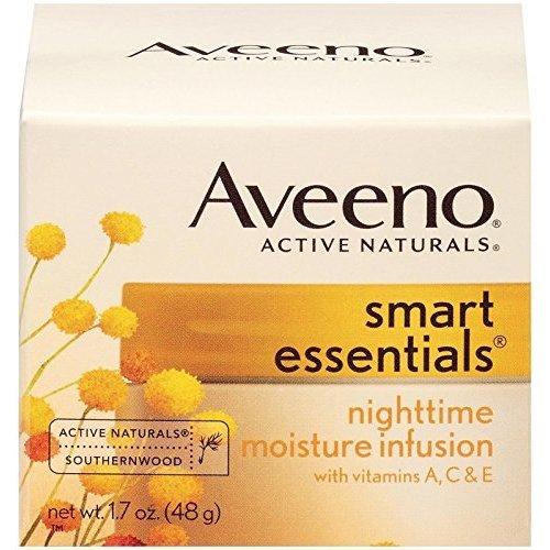 Aveeno Smart Essentials Nighttime Moisture Infusion Facial Moisturizer, 1.7 Ounce