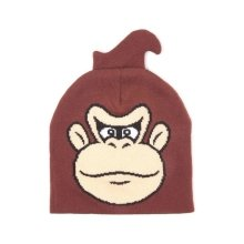 Donkey Kong Face Cuffless Beanie One Size - Brown (KC170207NTN)