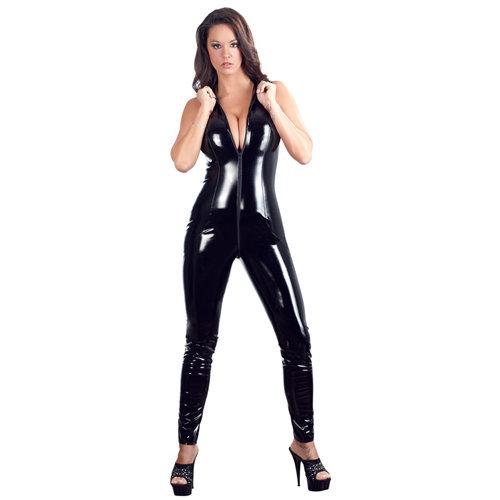 Vinyl Jumpsuit Small Ladies Lingerie Ladies PVC Clothing - Black Level