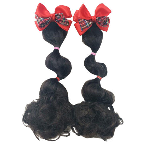 Stylish Children Girls Wig Curly Hair Extensions Hair Clip Kids Hairpiece Wigs, B