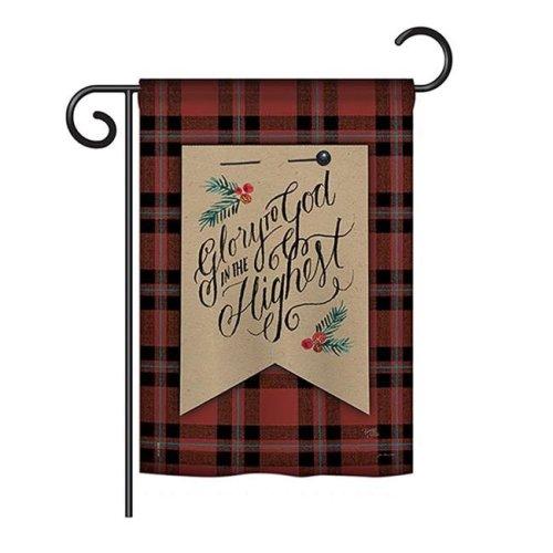 Glory to God Winter - Seasonal Christmas Impressions Decorative Vertical Garden Flag - 13 x 18.5 in.