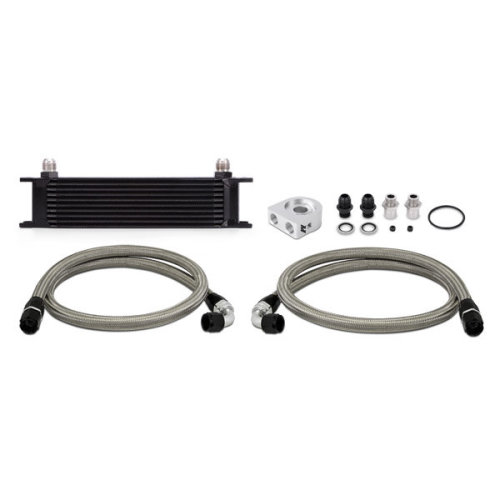Mishimoto MMOC-UBK 10-Row Universal Oil Cooler Kit, Black