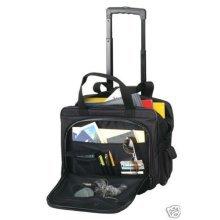 TravelwellWheel Dual Handle Rolling Soft Computer Notebook Laptop Case Organizer