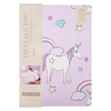 Dreamscene Junior Unicorn Bedding | Kids' Pink Unicorn Single Duvet Cover Set
