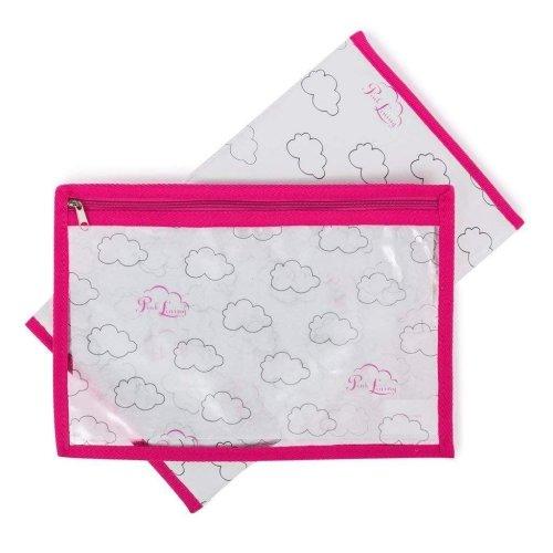 Pink Lining Change Mat & Wet Bag Set - Cloud