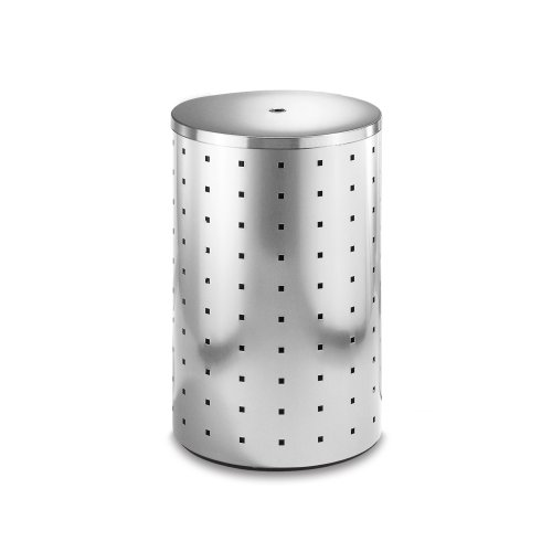Zack Quadro 69 L Laundry Bin - Brushed Stainless Steel