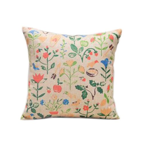 Lovely Flowers And Birds Pattern Home Furnishing Pillow / Cushion