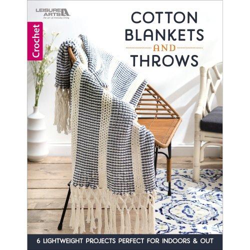 Leisure Arts-Cotton Blankets & Throws