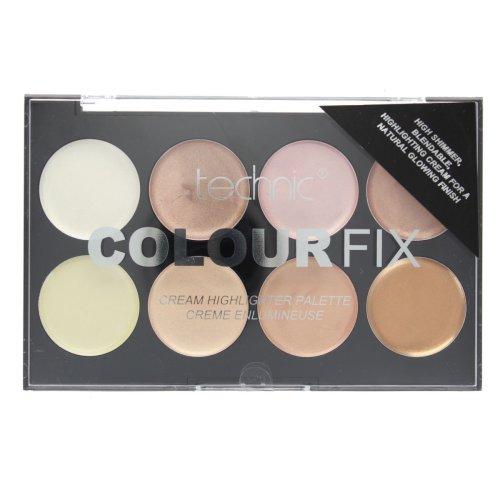 Technic Colour Fix 8 Colour Cream Highlighter Palette