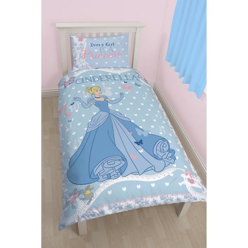 Disney Princess Character world Cinders Single Panel Duvet Set
