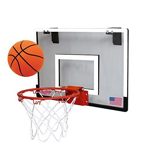 Rawlings Sporting Goods Game On Basketball Backboard Hoop Set, White, 18 x 12