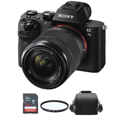 SONY A7 II KIT SEL 28-70MM +Bag + 16gb SD card+ HOYA UX UV 55mm Filter