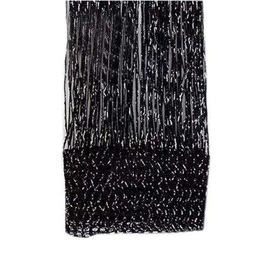 Set of 2 Door String Curtain Window Panel Room Divider Strip Curtain, Black