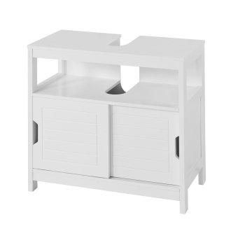 SoBuy® FRG128-W, Under Sink Bathroom Storage Cabinet Double Sliding Door