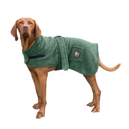 Dog Robe Towelling Green 40cm