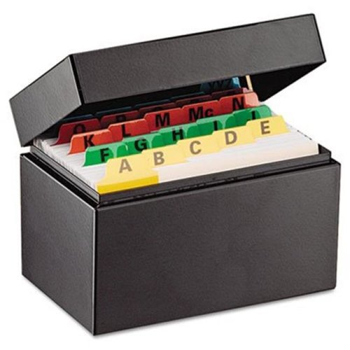 Mmf 263534BLA Index Card File Holds 300 3 x 5 cards  5 3/4 x 3 5/8 x 4