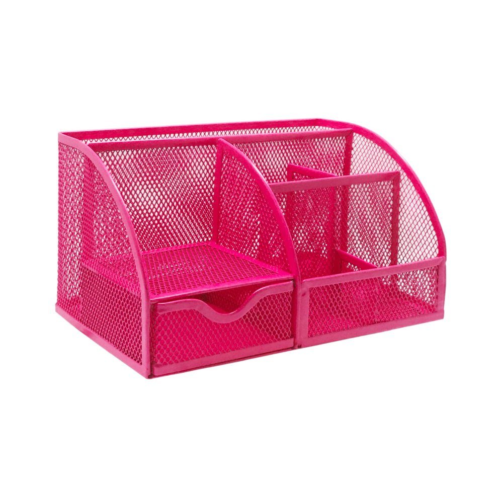 Terrific Exerz Ex348 Mesh Desk Organiser Desk Tidy Pen Holder Multifunctional Organizer Pink Home Interior And Landscaping Sapresignezvosmurscom