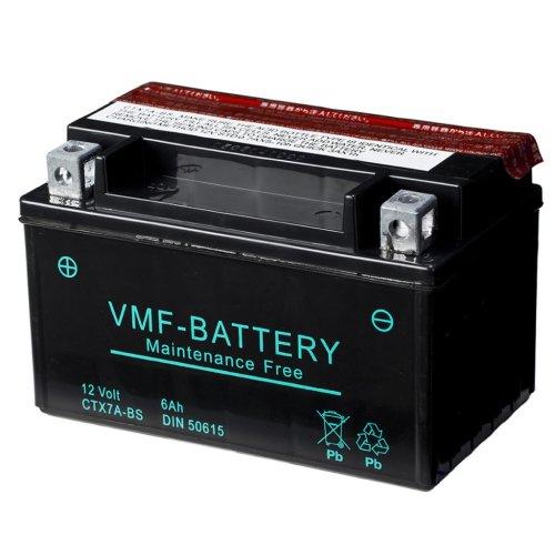 VMF Powersport Liquifix Battery 12 V 6 Ah MF YTX7A-BS Anti-leak 150x87x94mm