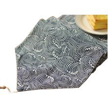 Simple Style Table Runner Bed Runner Tablecloths Table Top Decor, Wave