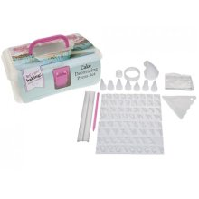 96 Piece Cake Decorating Press Set & Carry Case -  cake get baking decorating set press case lets