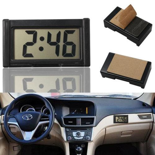 Auto Date Car Digital Clock LCD Screen Self-Adhesive Bracket Desk Dashboard